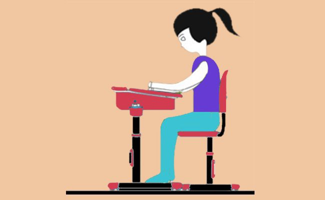 perfect-sitting-posture-at-the-desk-for-a-writer