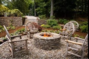 wood-bench-and-stone-fire-pit