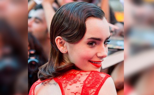 lilly-collins-retro-finger-wave-hairstyle - Hair Styles