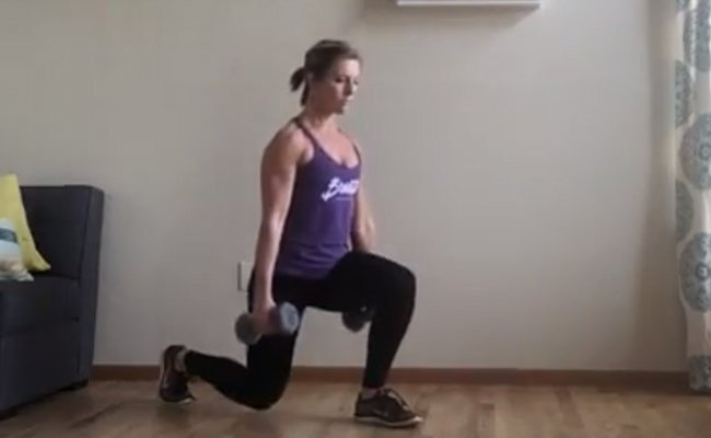 burn-weight-with-swing-and-lunge - HIIT Weight Training Routines