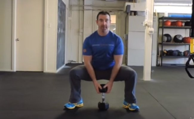 sumo-dumbbell-squat - HIIT Weight Training Routines