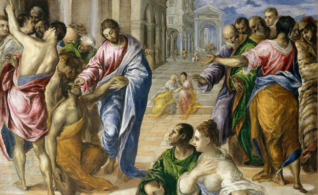 christ-healing-the-blind - Most Celebrated Unfinished Paintings