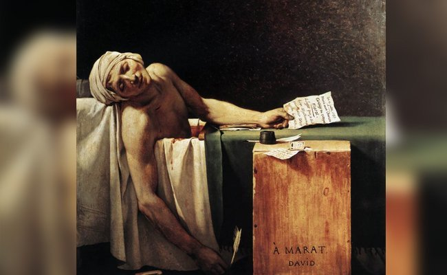 the-death-of-marat - Most Celebrated Unfinished Paintings