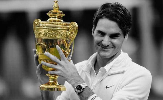 win-record-8th-wimbledon-title - Roger Federer