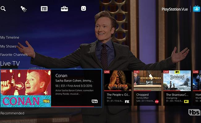 playstation vue live tv streaming