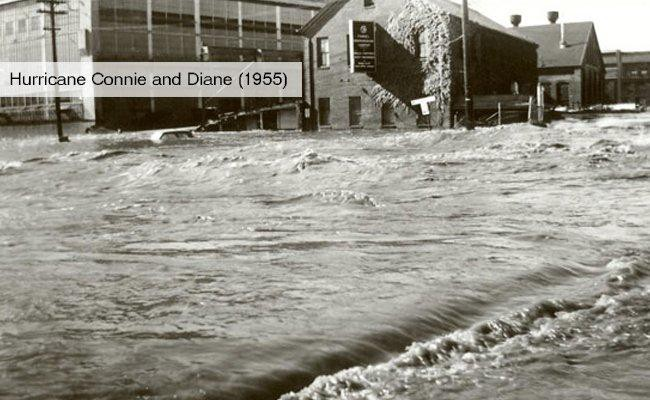 hurricane connie and diane 1955 us history