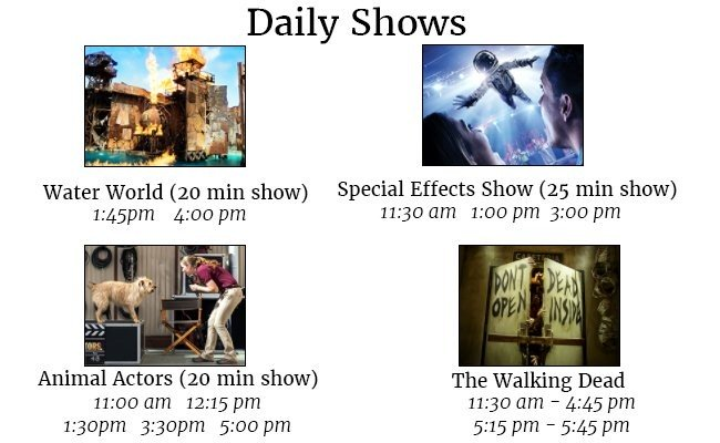 park-timings-and-show-timings-Universal Studios Hollywood
